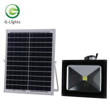 COB Chip LED Luz de inundación solar 50w