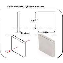 Block Permanent Neodym Magnet mit unterschiedlicher Größe