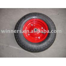 roues en caoutchouc d'air