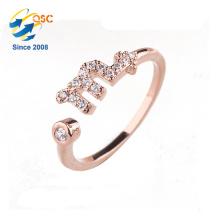 Best gift silver jewelry twelve constellations Scorpio luck ring for girlfriend
