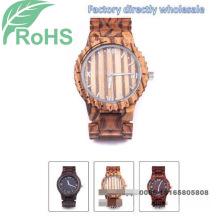 Мода наручные часы женщины деревянные часы мужские Кварцевые часы