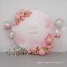 Circle Custom logo round wedding Backdrop decoration Photo Display Stand