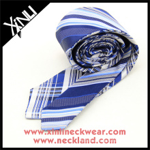 Reversible Plaid Stripes Cheap China Silk Necktie