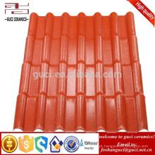 Telha de telhado de pouco peso da resina de Syntheticr da superfície de ASA MaterialEmboss10-30 anos de garantia