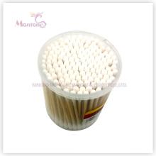7 * 7 * 8cm maquillage en bois stérile bâton en bambou tampons d'oreille coton-tige