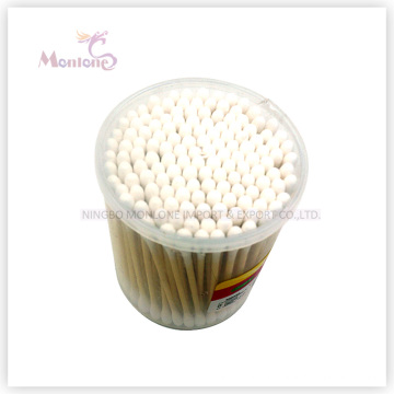 7*7*8cm Makeup Sterile Wooden Bamboo Stick Ear Swabs Cotton Bud