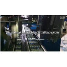 Escova da tira da indústria da linha central da alta velocidade 2 do CNC 2 cabeças que furam e uma máquina de tufagem principal