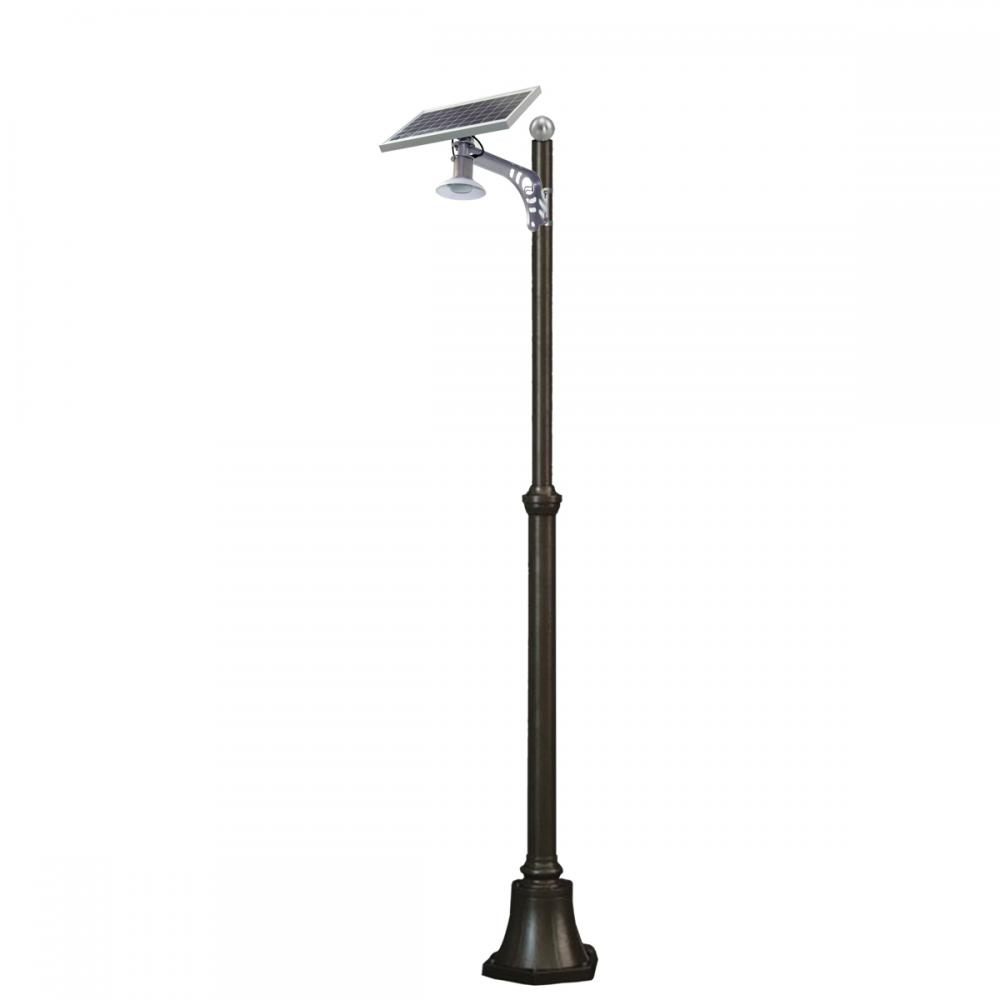 Integrated outdoor garden light all in one