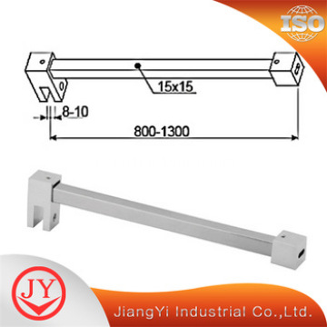 Barre de support d'écran en verre de tringle de rideau de douche