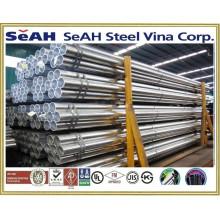"Tubo de acero negro ranurado de 8 ""con tubería de acero AS, BS, JIS, DIN, ASTM, ERW, tuberías de acero soldadas, tubos de acero galvanizado"