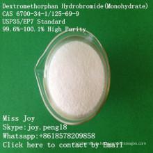 Super hoher Reinheitsgrad Dextromethorphan Hydrobromid-Monohydrat CAS 6700-34-1 / 125-69-9 Roh-API
