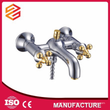 sanitary ware dual handle shower and bathtub mixer freestanding bathtub faucet