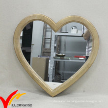 Урожай равнина дерева Heart Shaped зеркала для декора стен