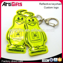 Promotion gifts reflection keychain with led