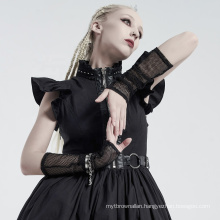 PUNK RAVE WS-421SSF lady girl sexy plus size women strip lace kintted daily lace club punk glove sleeves