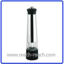 Plástico eléctrico sal y pimienta cocina molino (R-6008)