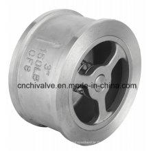 Valve de retenue de gaufrettes à ressort H71 en acier inoxydable 150 lb.