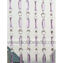 Spring 18MM&38MM Plastic Crystal Beading Curtain Trimming