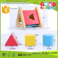 2015 New Hot Design Triangle Shape Toy Good Price Factory Wholesale Wooden Shape Sorter