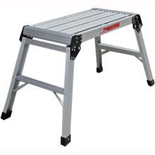 Plataforma plegable de trabajo de aluminio ajustable de dos pasos para subir grandes y plegables