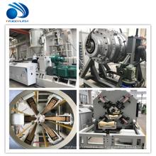 PVC-PET-Plastikrohrmaschinenextrusion, die Linie macht