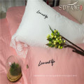Премиум розовый постельное белье статьей отель постельное белье Пододеяльник