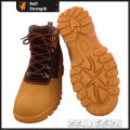 Rubber Outsole Ankle Industrial Safety Shoe with Genuine Leather (SN5376)