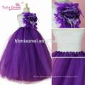 2017 new design princess tutu dress handmade ball gown floor length floral puffy tutu dress for girls