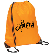 Hot sale nylon 190t 210D polyester drawstring backpack, drawstring rucksack bag for gym