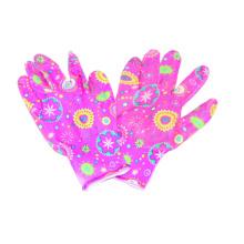 13G Polyster Floral Printing Glove, Nitrile CE Glove