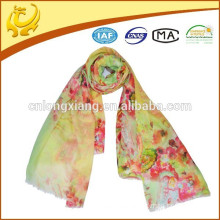ODM custom available sample lady wool printed shawl
