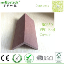 Skirting Board for Wood Decks Anti Fading Waterproof WPC End Cover with Clips