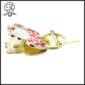 Oro metal de llavero de clip Hello Kitty foto