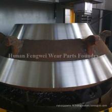 Manteau, revêtement en cuvette concassé pour concasseur à cône - acier à manganèse élevé