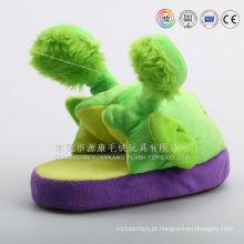 Atacado recém design personalizado uso indoor anti-skid animal em forma de chinelos de pato de pelúcia