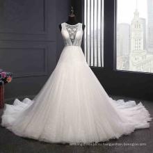 Сексуальная Спинки Свадебное Платье Сшитое