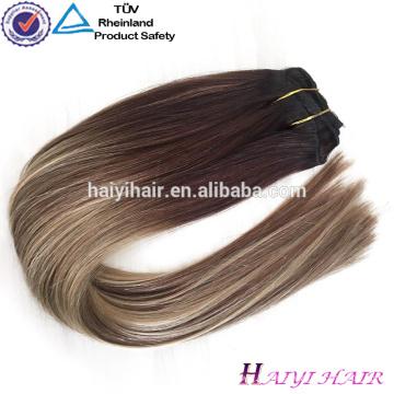 En gros Alibaba 2018 Nouvelle Balayage Couleur Double Dessiné Clip En Extensions de Cheveux