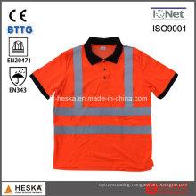 High Visibility Safety Traffic Clothing En20471 Reactive Polo-Shirt