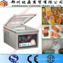 Máquina de embalagem a vácuo pequena automática de mesa de aço inoxidável
