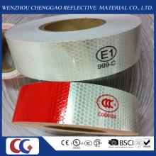 DOT-C2 Tipo PVC Segurança Branco e Vermelho Fitas Refletivas para Caminhão