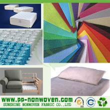 Tela 100% não tecida do sofá de Spunbond do polipropileno
