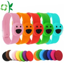 Smile Cartoon Slap Silicone Muggenafstotende armbanden