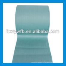 Traverser le tissu non-tissé de Spunlace de pulpe de bois de polyester visqueux / parallèle de vison pour des lingettes
