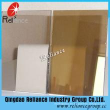 Vidrio teñido de bronce oscuro de 5m m / vidrio de flotador teñido con ISO
