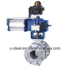 Válvulas de controle de esfera pneumáticas do tipo O para indústria leve