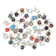 Dragon bag pendant round bead Crystal Necklace chakra aura healing pendant gem real dragon playing Bead Necklace