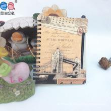 Caderno espiral reciclado promocional personalizado barato com caneta