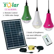 2014 nuevo CE orbe accionado solar brillante luz tienda al aire libre con cargador de teléfono