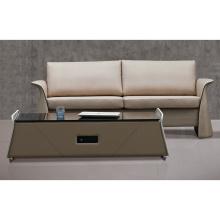 Elegant Italian Luxurious Genuine Leather Sofa Set