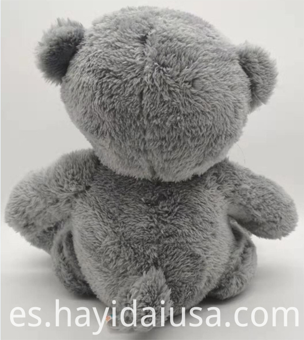 brown bear toy back